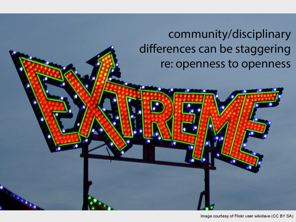community/disciplinary differences can be stagge...