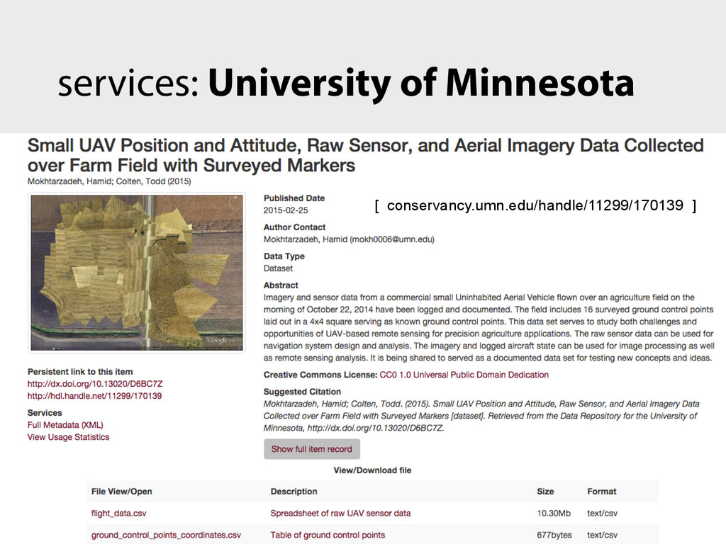 services: University of Minnesota [ conservancy...
