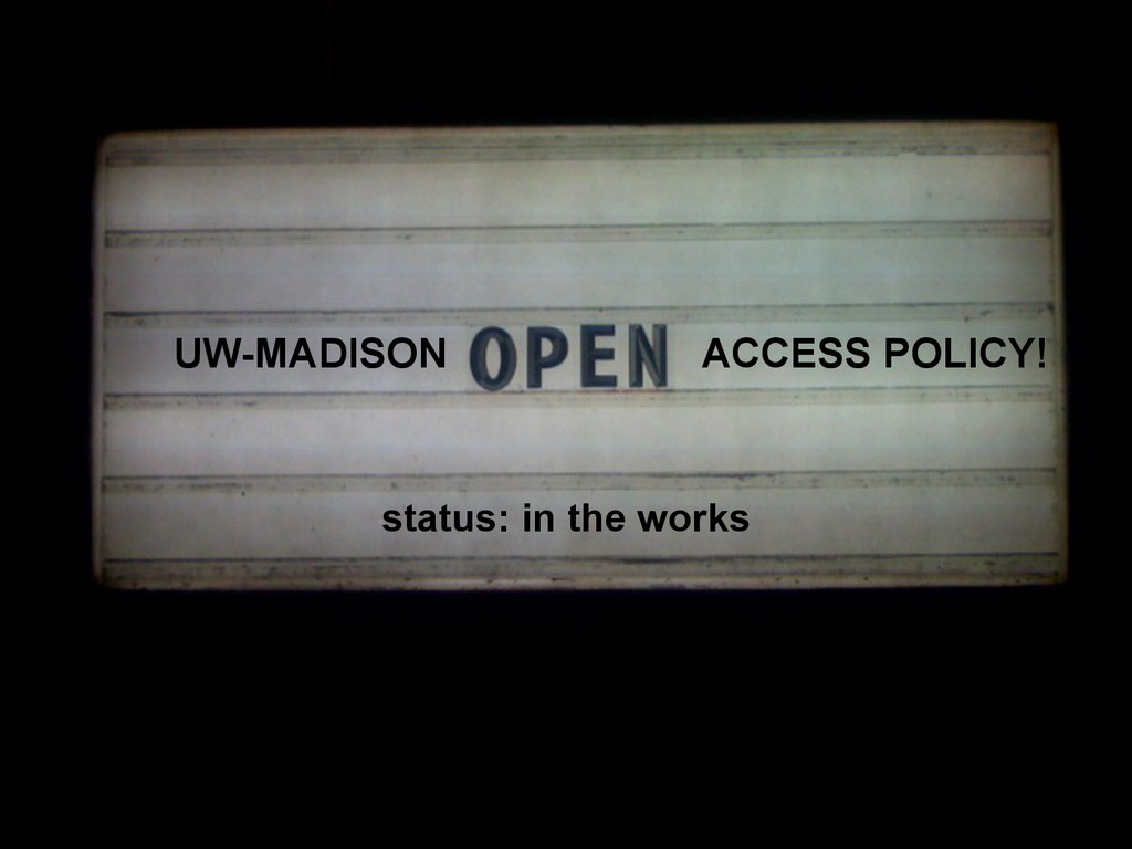 UW-MADISON ACCESS POLICY! status: in the works