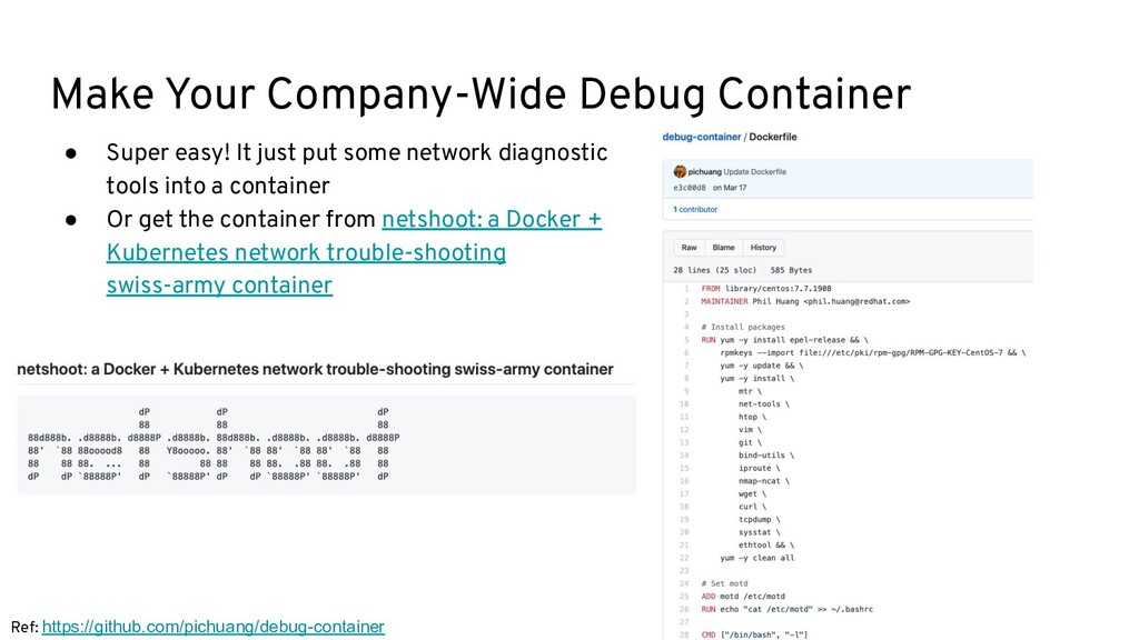 Make Your Company-Wide Debug Container ● Super ...