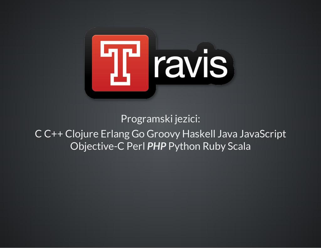 Programski jezici: C C++ Clojure Erlang Go Groo...