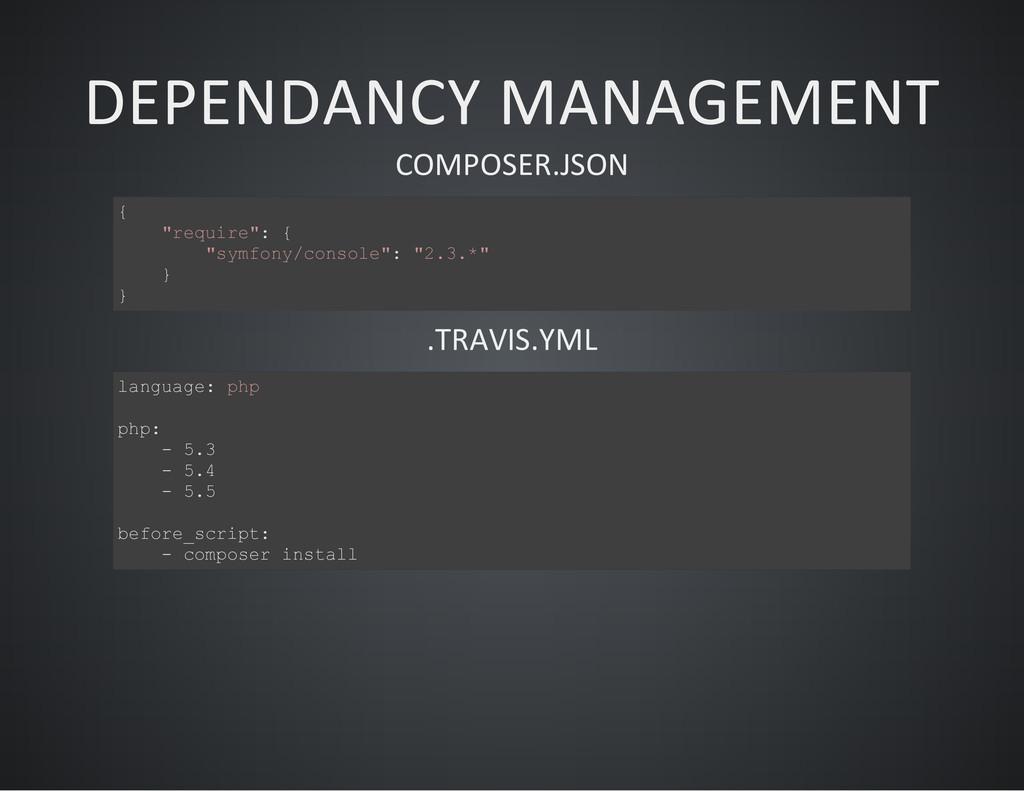 """DEPENDANCY MANAGEMENT COMPOSER.JSON { """" r e q u..."""