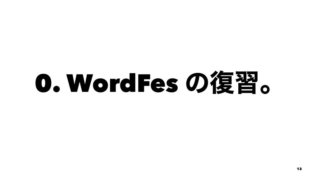 0. WordFes ͷ෮शɻ 13