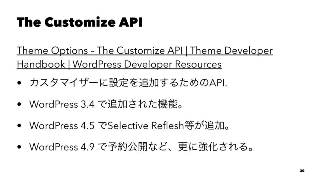 The Customize API Theme Options – The Customize...