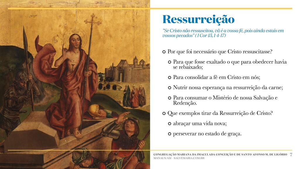 Por que foi necessário que Cristo ressuscitasse...
