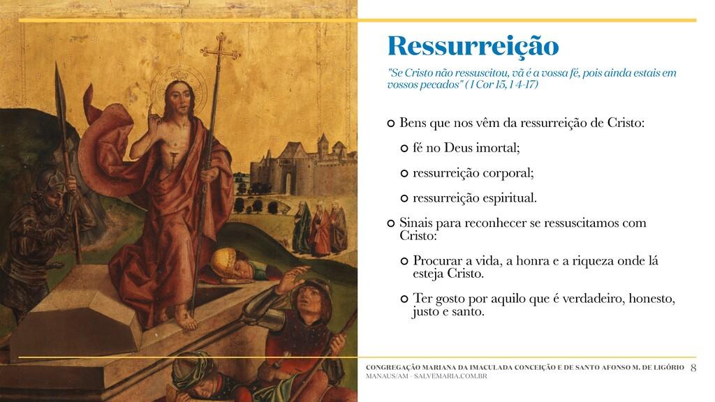 Bens que nos vêm da ressurreição de Cristo: fé ...