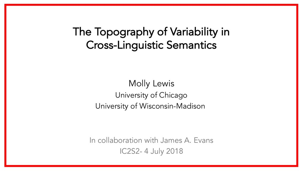 The Topography of Variability in Cross-Linguist...