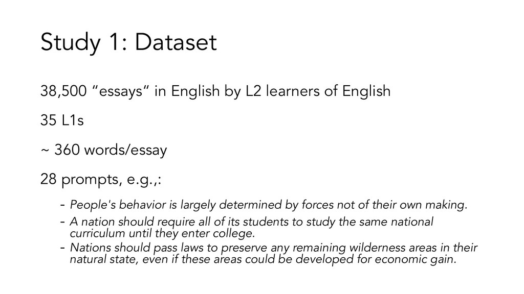 "Study 1: Dataset 38,500 ""essays"" in English by ..."