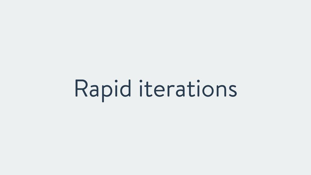 Rapid iterations