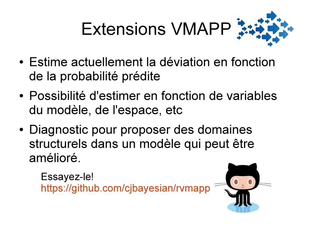Extensions VMAPP ● Estime actuellement la dévia...