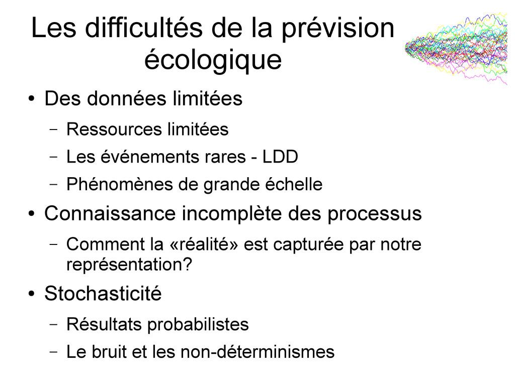 Les difficultés de la prévision écologique ● De...