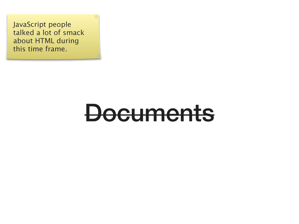 Documents JavaScript people talked a lot of sma...