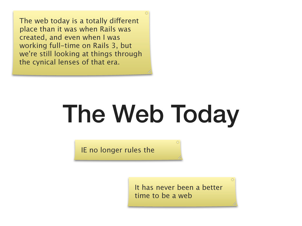 The Web Today The web today is a totally differ...