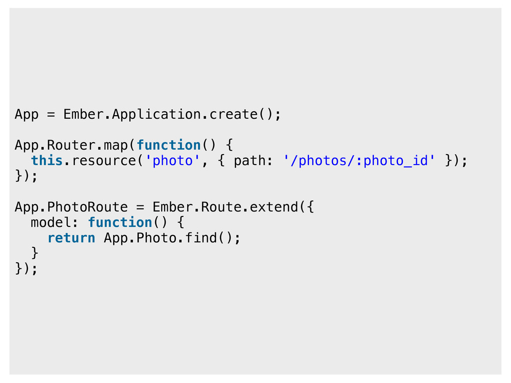 App = Ember.Application.create(); App.Router.ma...