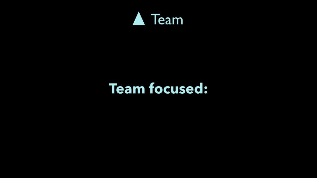 Team focused: Team