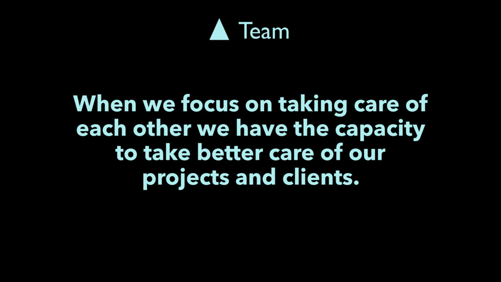 When we focus on taking care of each other we h...
