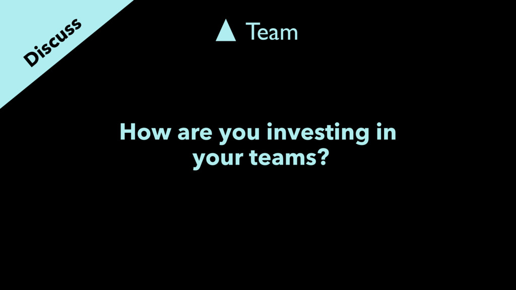 How are you investing in your teams? Discuss Te...