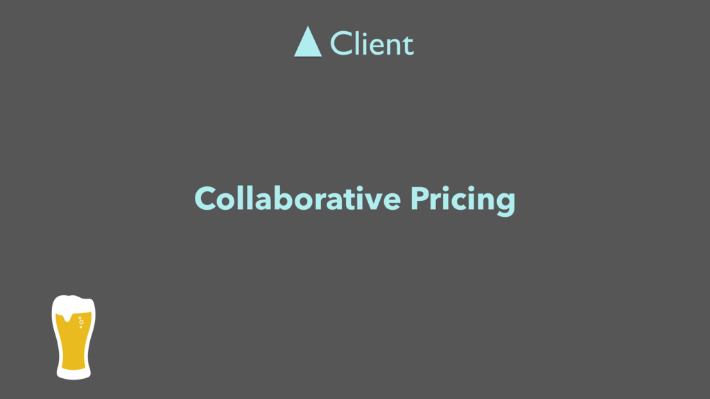 Collaborative Pricing Client