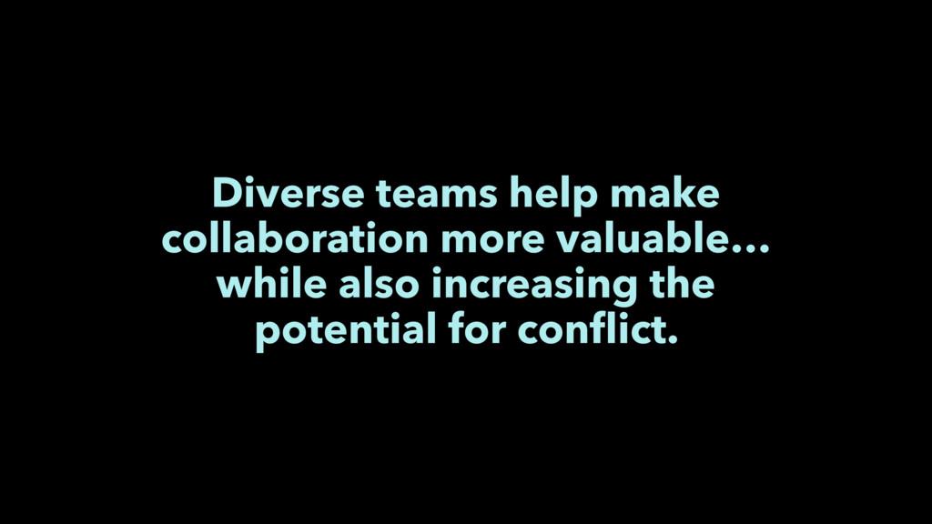 Diverse teams help make collaboration more valu...