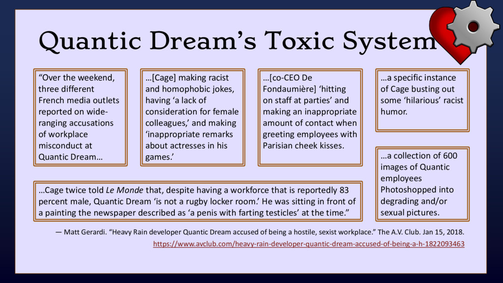 "Quantic Dream's Toxic System — Matt Gerardi. ""H..."