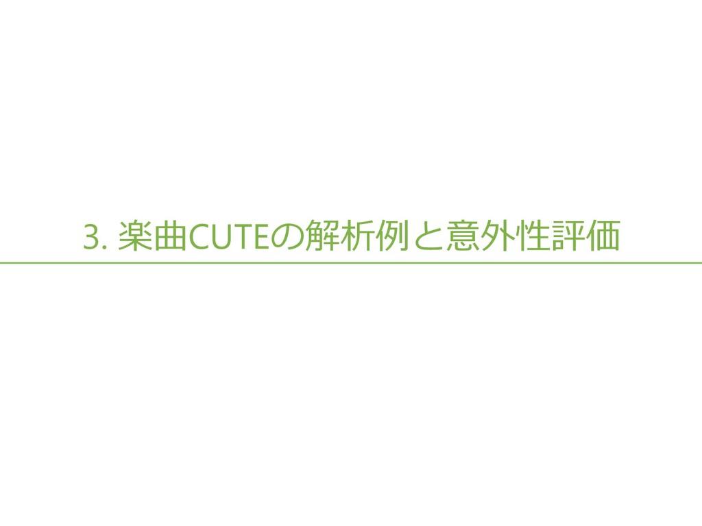 3. 楽曲CUTEの解析例と意外性評価 16