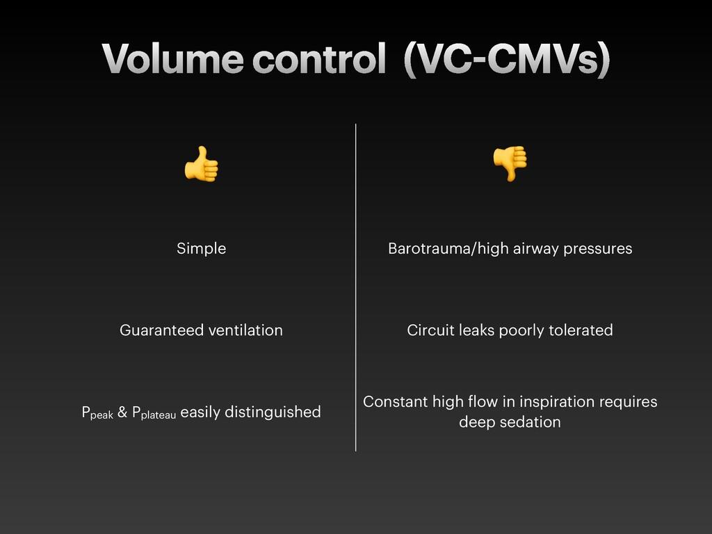 "Volume control (VC CMVs) ! "" Simple Barotrauma/..."