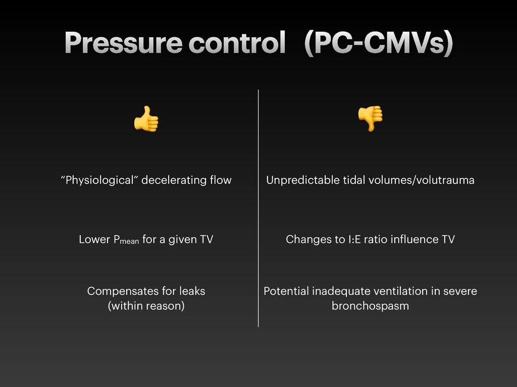 """Pressure control (PC CMVs) ! """" """"Physiological"""" ..."""