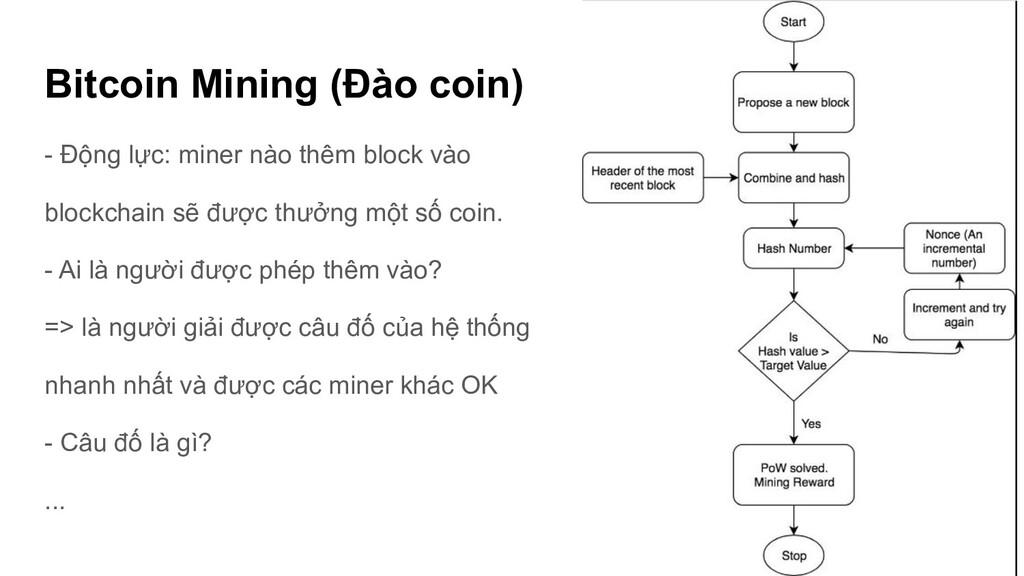 Bitcoin Mining (Đào coin) - Động lực: miner nào...