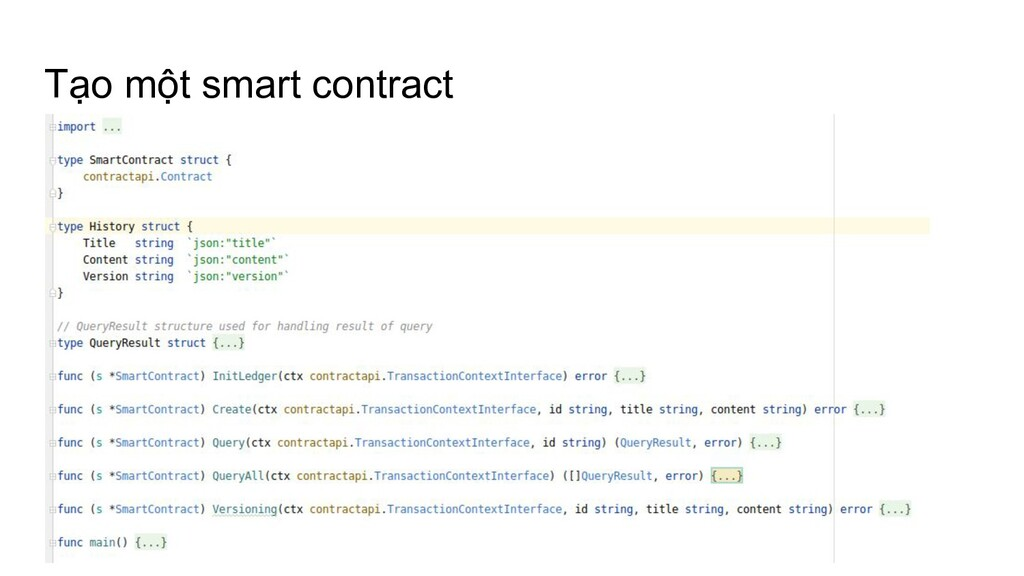 Tạo một smart contract