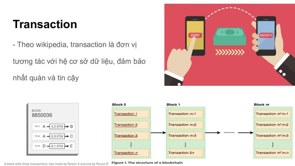 Transaction - Theo wikipedia, transaction là đơ...