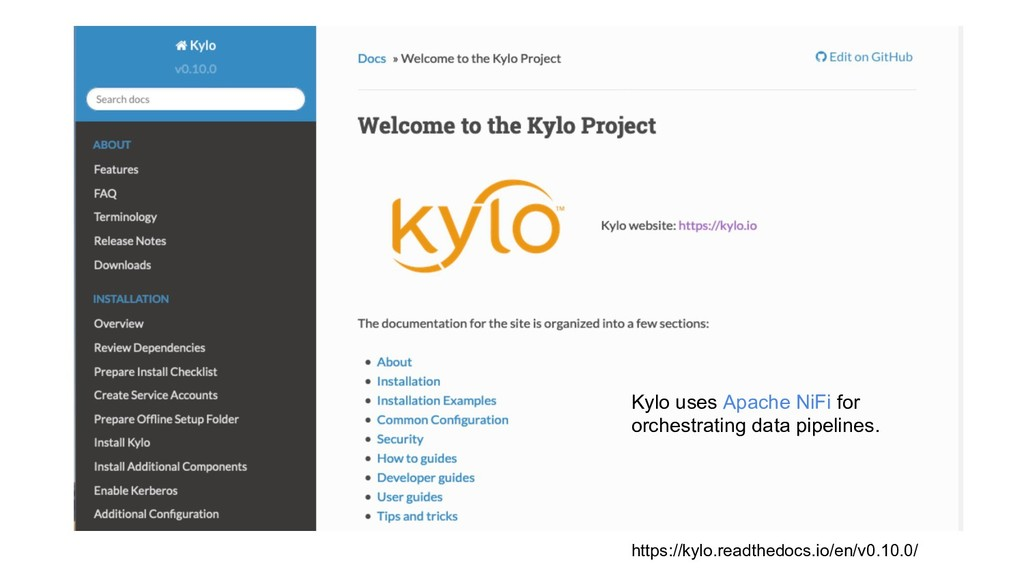 19 https://kylo.readthedocs.io/en/v0.10.0/ Kylo...