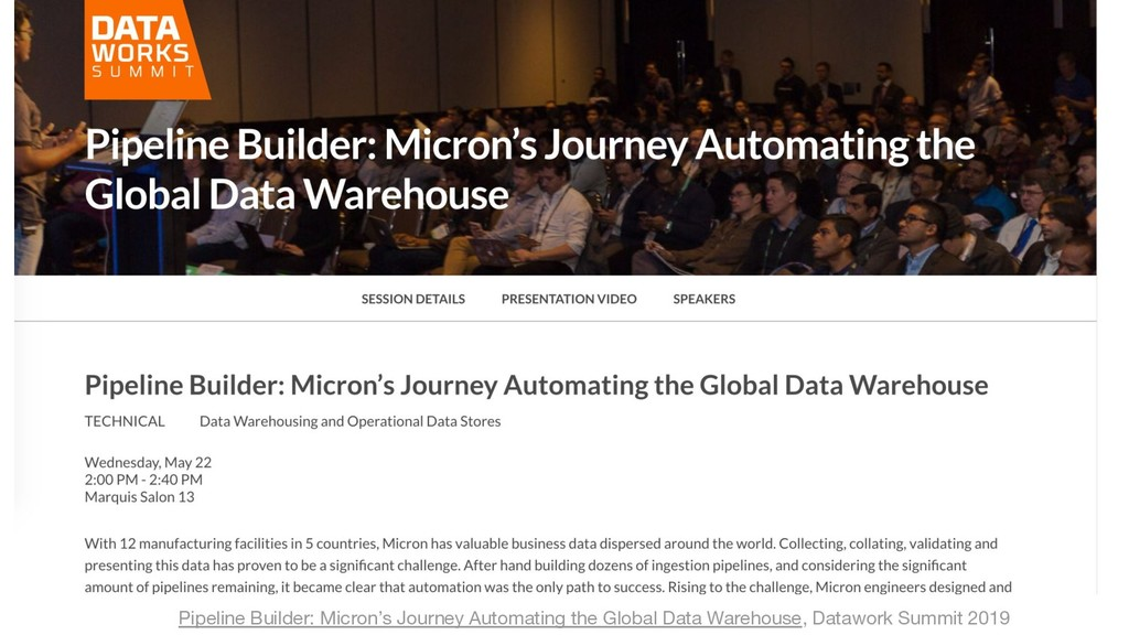 20 Pipeline Builder: Micron's Journey Automatin...