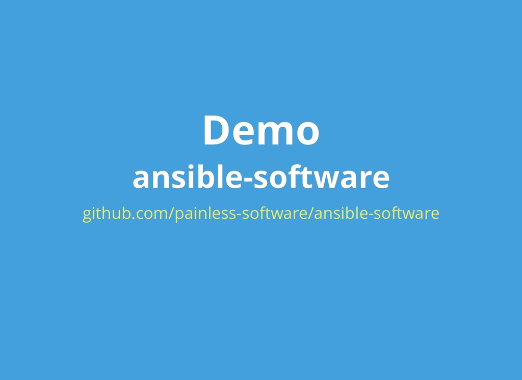 Demo Demo ansible-software ansible-software git...