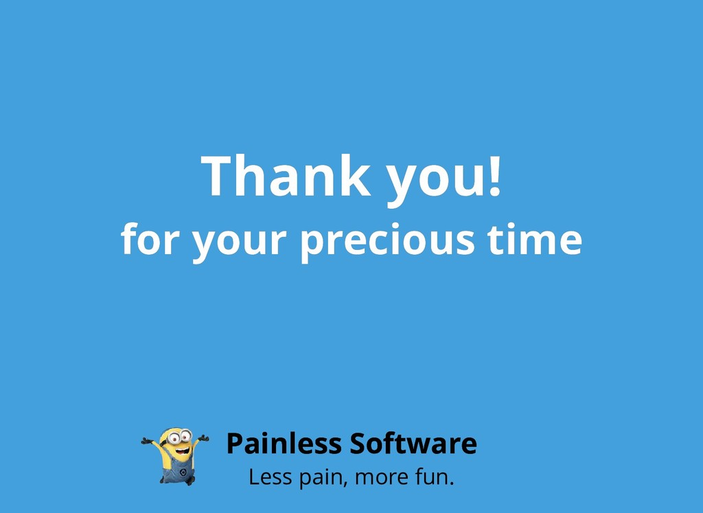 Thank you! Thank you! for your precious time fo...
