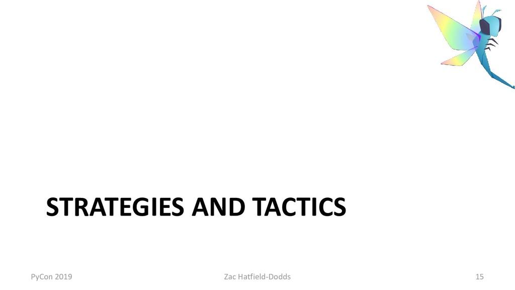 STRATEGIES AND TACTICS PyCon 2019 Zac Hatfield-...