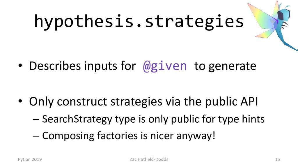 hypothesis.strategies • Describes inputs for @g...