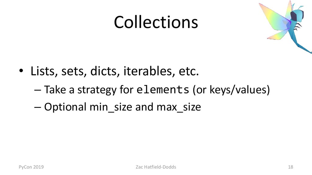 Collections • Lists, sets, dicts, iterables, et...