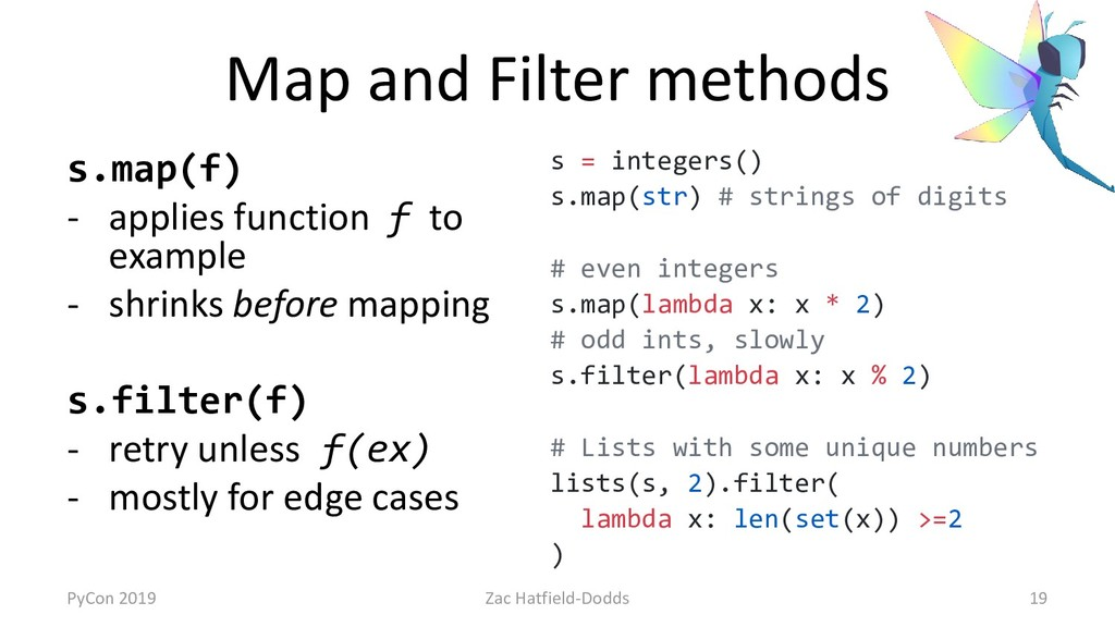 Map and Filter methods s.map(f) - applies funct...