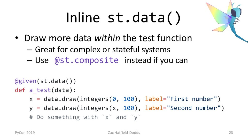 Inline st.data() • Draw more data within the te...
