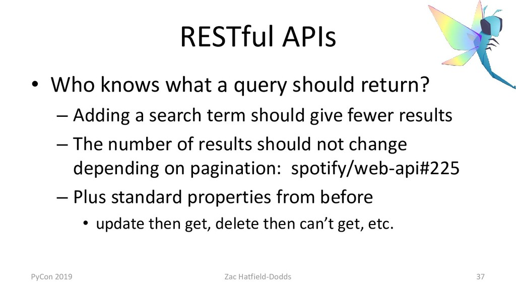RESTful APIs • Who knows what a query should re...