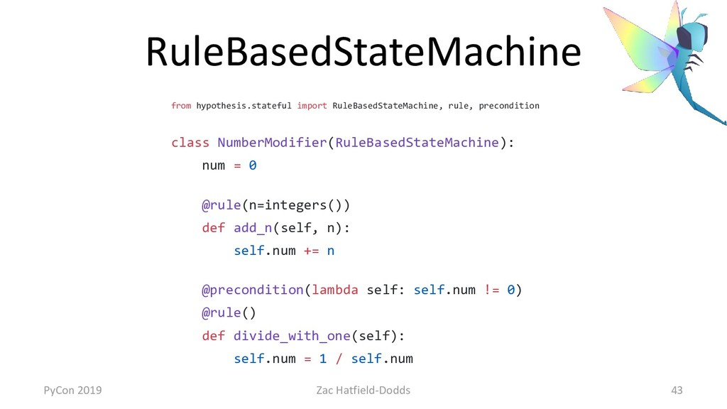RuleBasedStateMachine from hypothesis.stateful ...