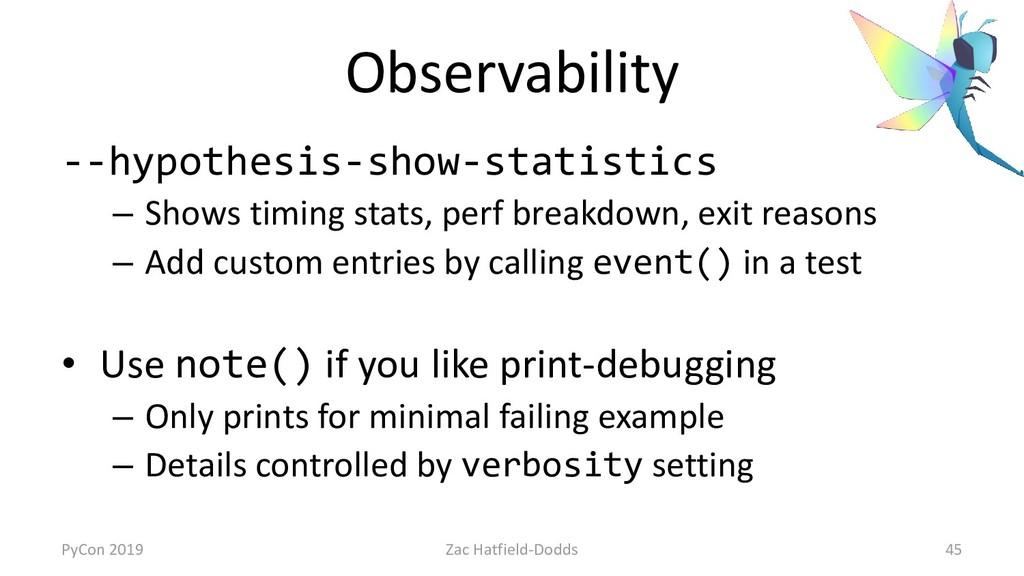 Observability --hypothesis-show-statistics – Sh...