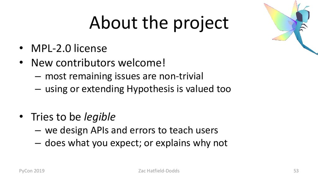 About the project • MPL-2.0 license • New contr...