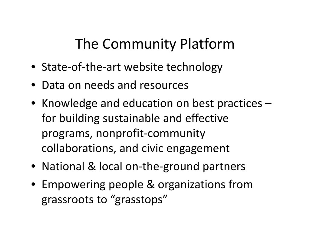 The Community Platform • State‐of‐the‐art websi...