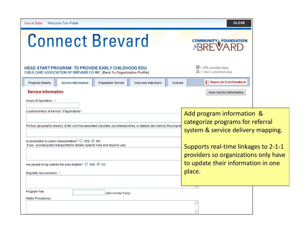 Add program information & categorize programs f...