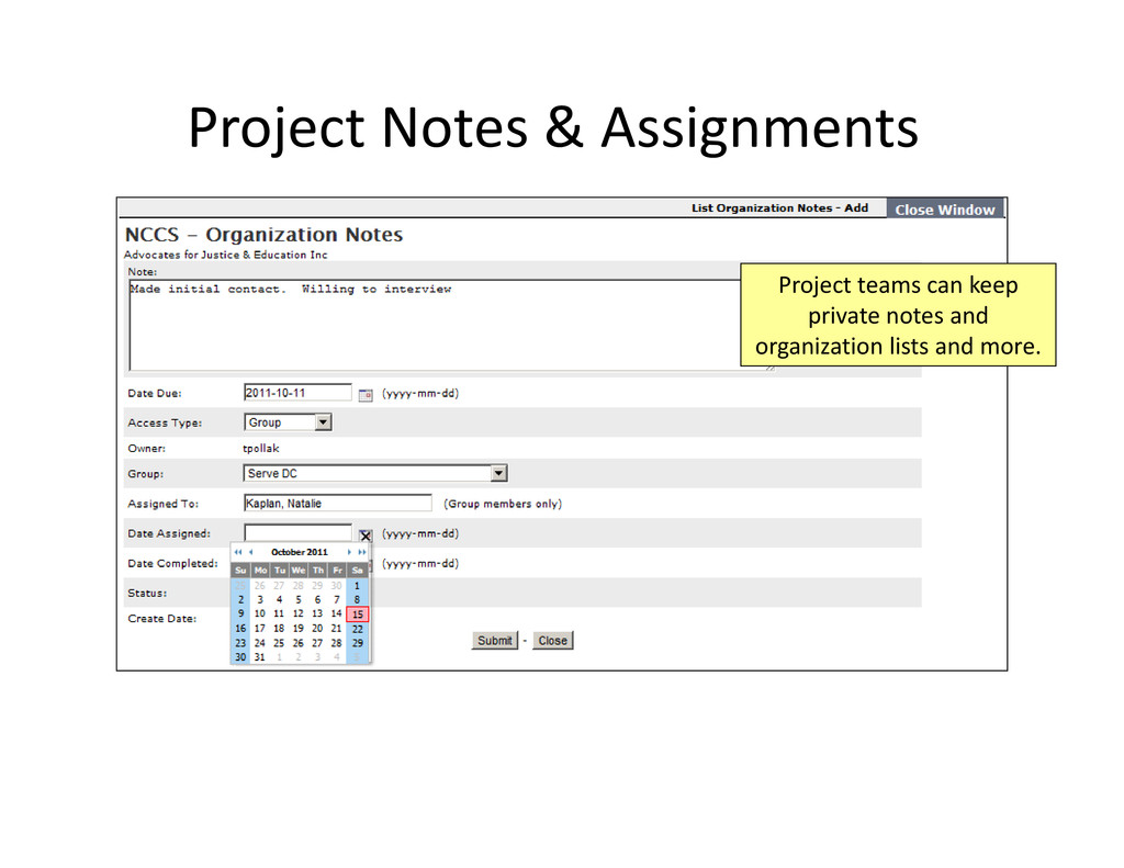 Project Notes & Assignments Project teams can k...