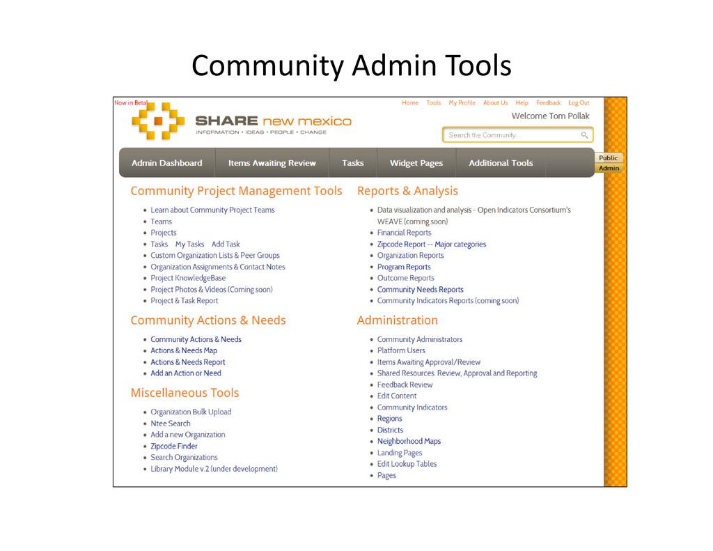 Community Admin Tools