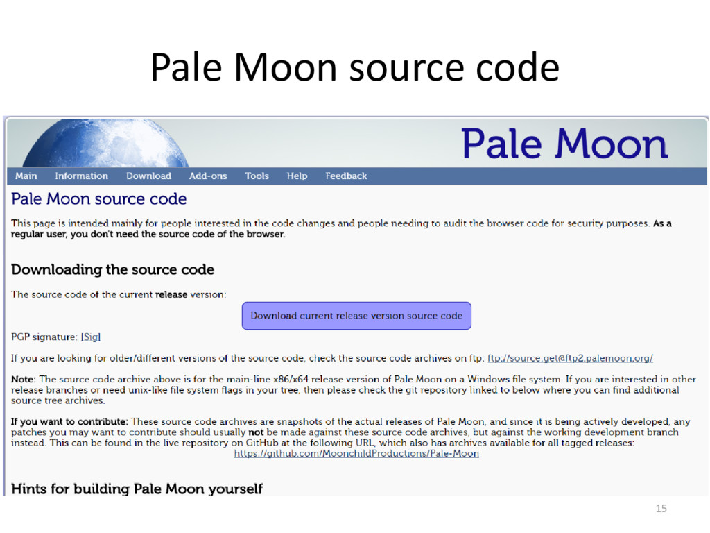 Pale Moon source code 15