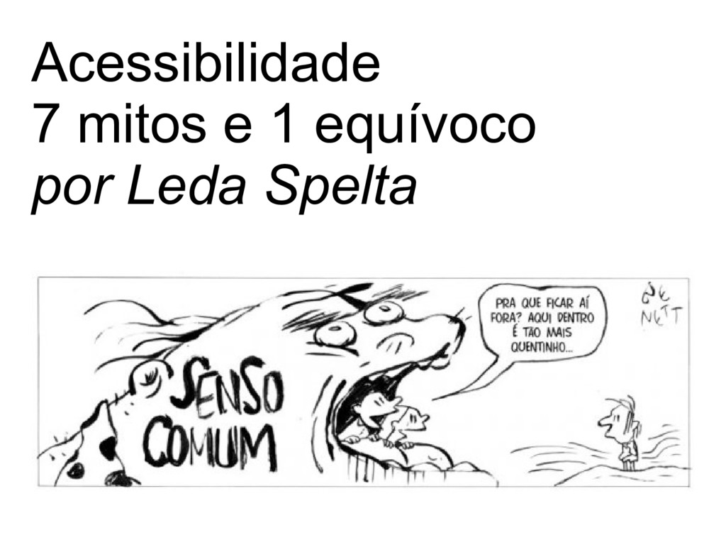 Acessibilidade 7 mitos e 1 equívoco por Leda Sp...