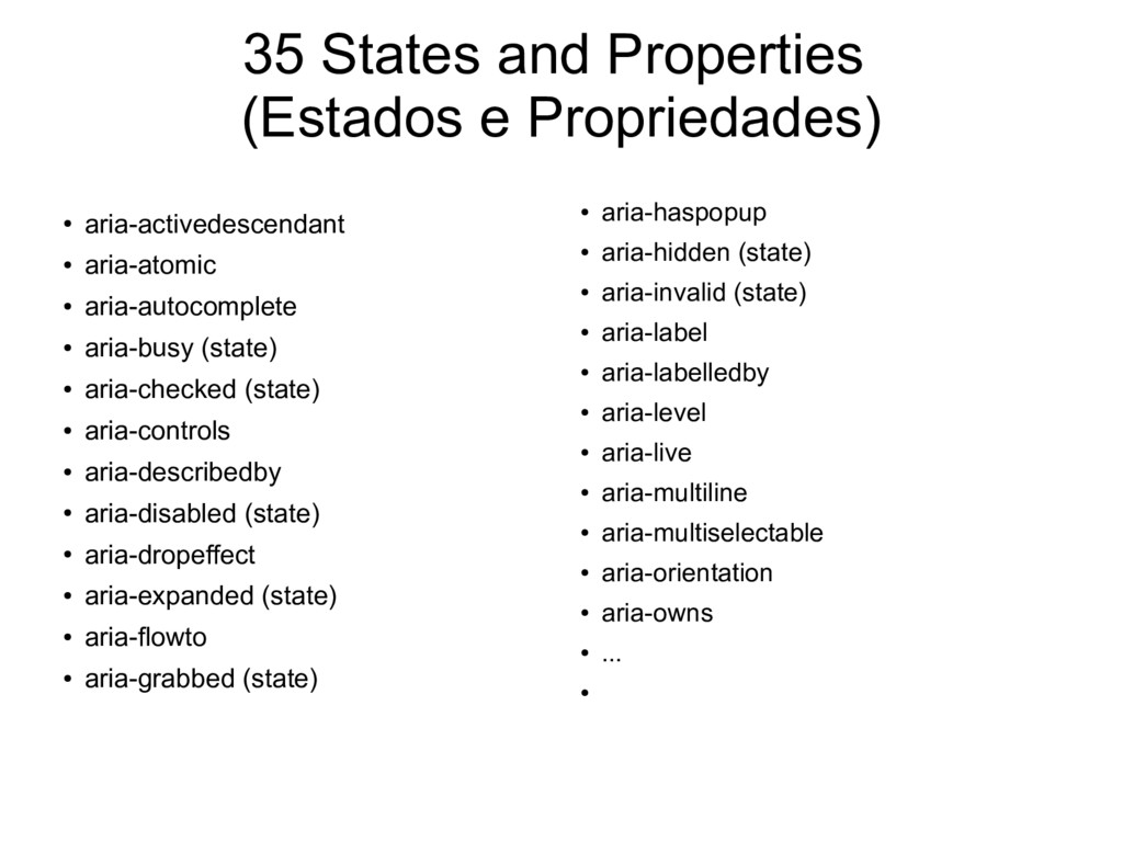 35 States and Properties (Estados e Propriedade...